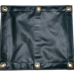 heavy duty green vinyl coated polyester tarp with brass grommets