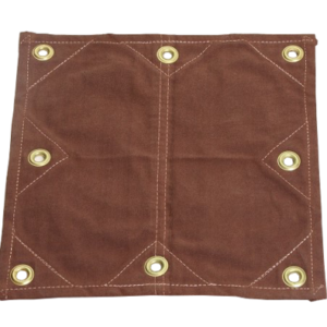 Heavy-Duty Brown Canvas with Reinforced grommets