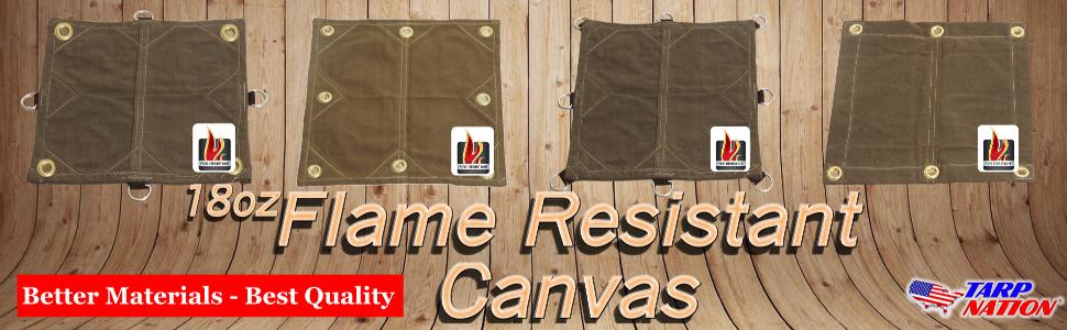 heavy duty, canvas tarp